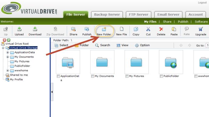 Using the file drop box